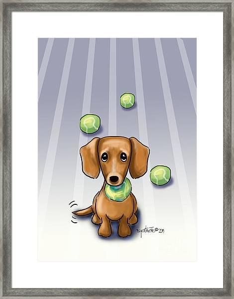 The Ball Catcher Framed Print