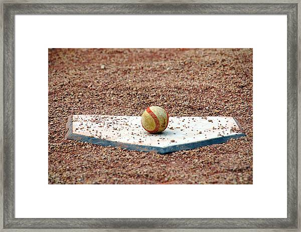 The Ball Of Field Of Dreams Framed Print