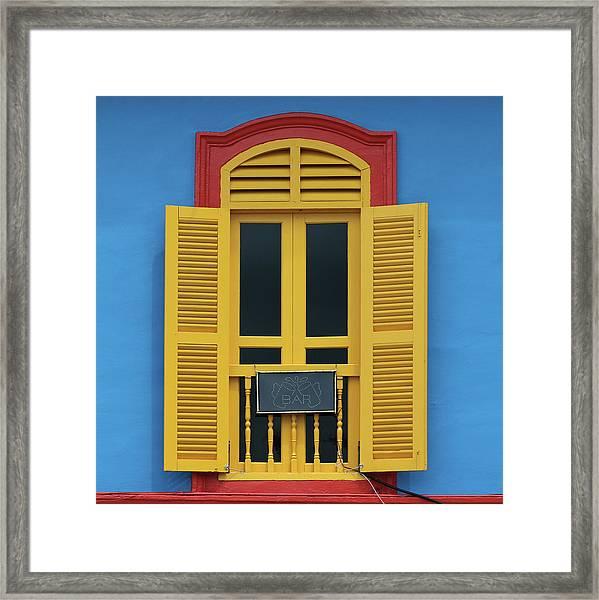 The Bar Framed Print by Hans-wolfgang Hawerkamp