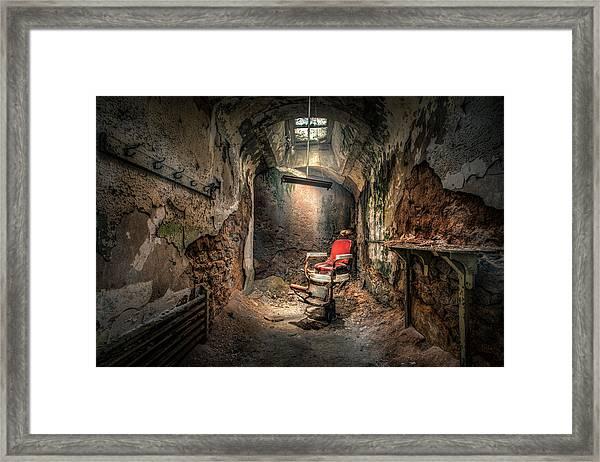 The Barber's Chair -the Demon Barber Framed Print