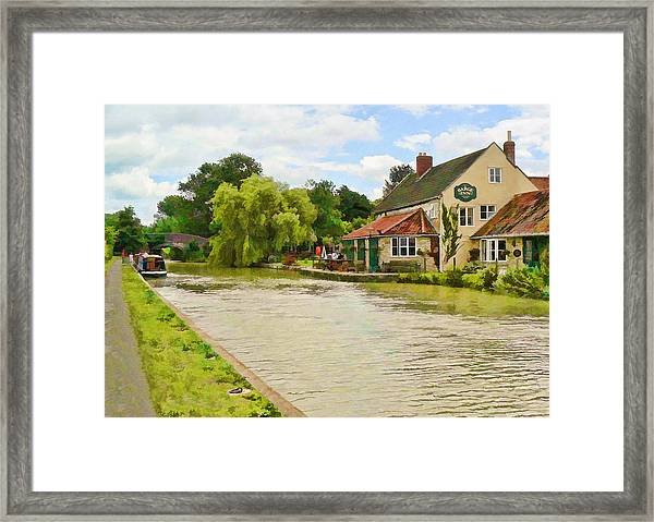 The Barge Inn Seend Framed Print
