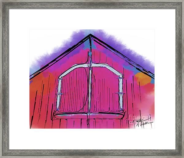 The Barn Door Framed Print
