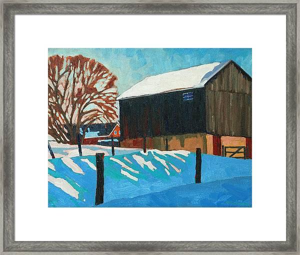 The Barnyard Framed Print