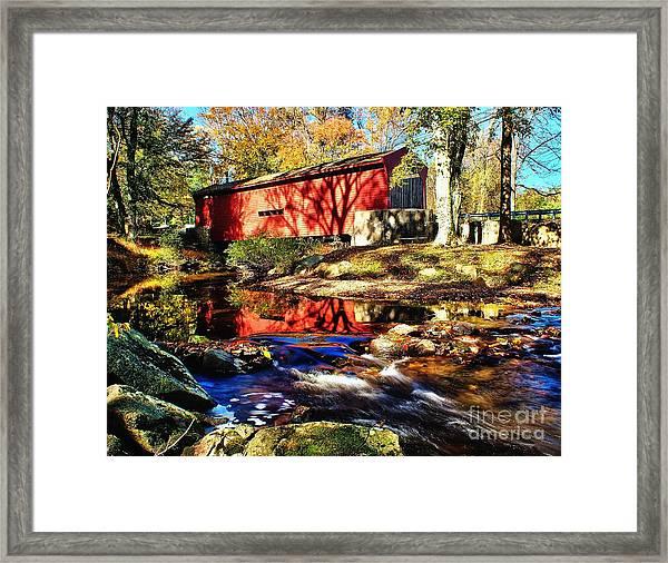 The Bartram Coverd Bridge Framed Print