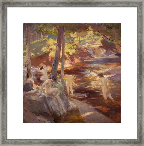 The Bathing Pool Framed Print