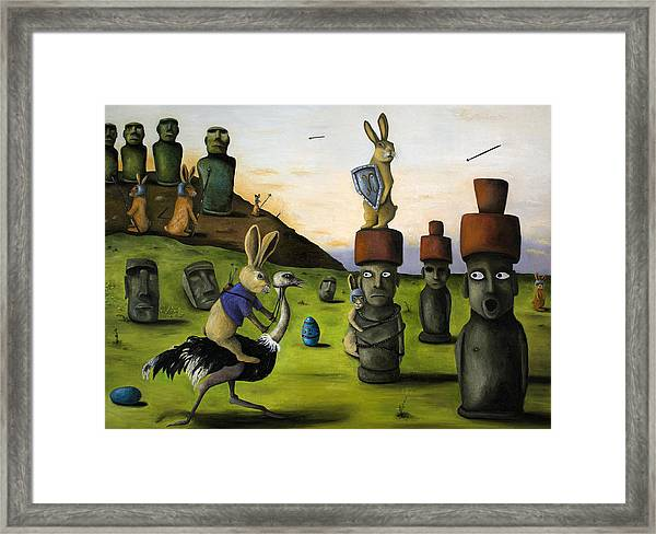 The Battle Over Easter Island Framed Print
