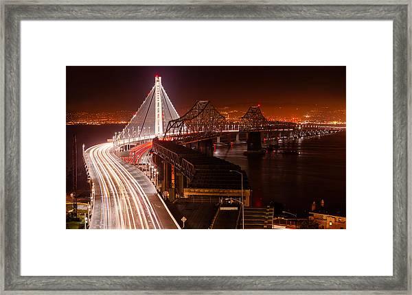 The Bay Bridges Framed Print