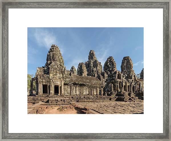 The Bayon. Angkor Thom. Siem Reap Framed Print