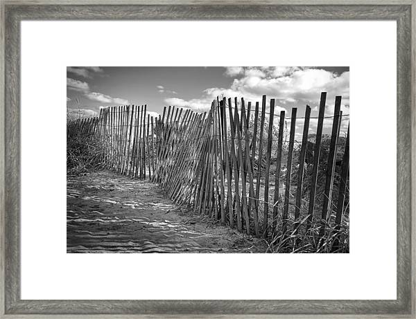 The Beach Fence Framed Print