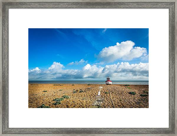 The Beached Boat. Framed Print