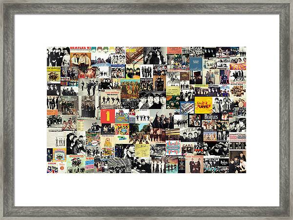 The Beatles Collage Framed Print