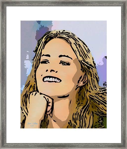 The Beautiful Elisabeth Shue Framed Print