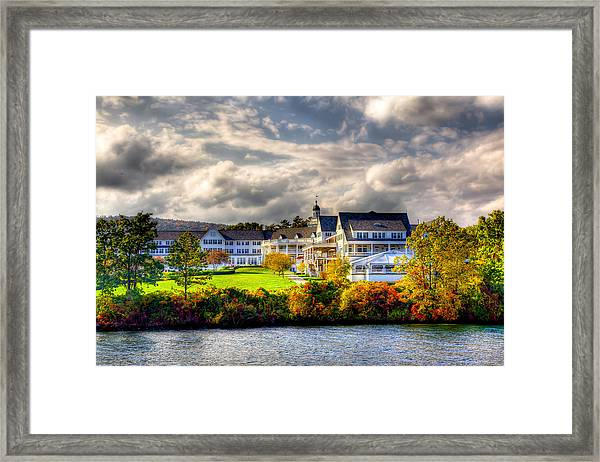 The Beautiful Sagamore Hotel On Lake George Framed Print