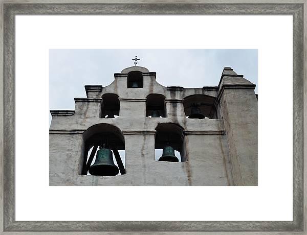 The Bells Of Mission San Gabriel Arcangel Framed Print