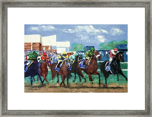 The Bets Are On Again Framed Print