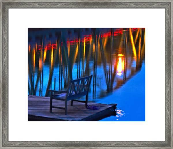 The Bidge At Sunset Framed Print