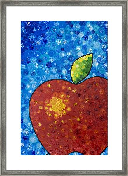 The Big Apple - Red Apple By Sharon Cummings Framed Print