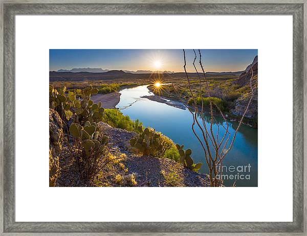 The Big Bend Framed Print