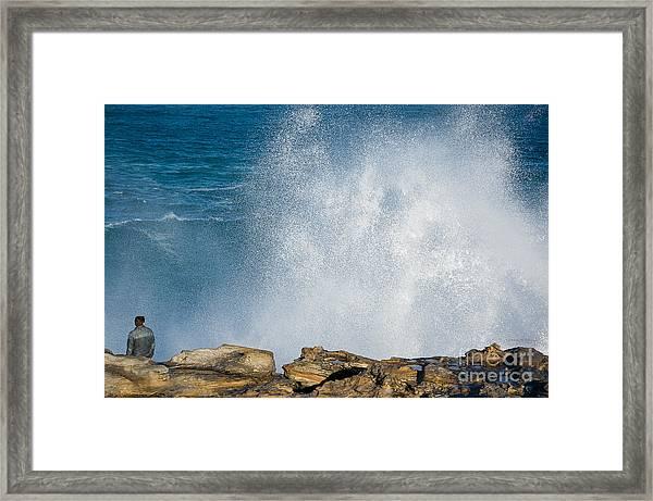 The Big Wave Framed Print