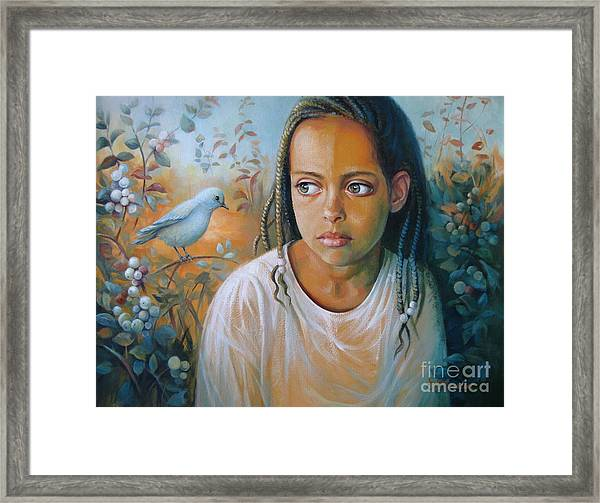 The Bird And The Child Framed Print