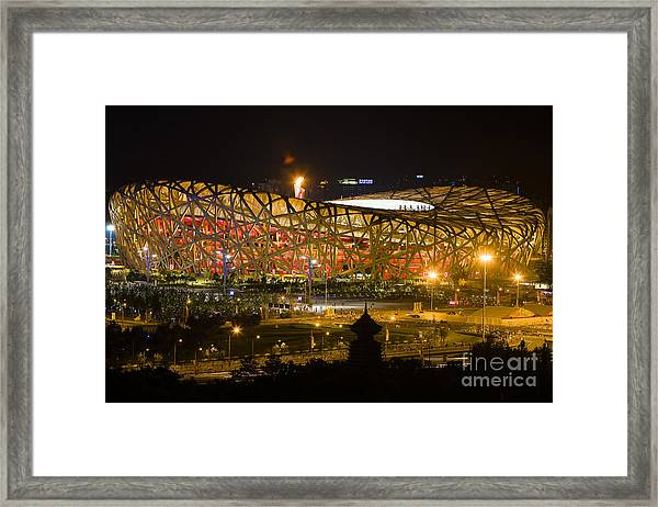 The Birds Nest Stadium China Framed Print