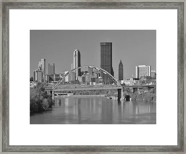 The Birmingham Bridge In Pittsburgh Framed Print
