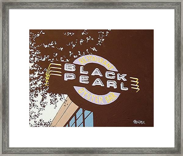 The Black Pearl In Midtown Framed Print by Paul Guyer