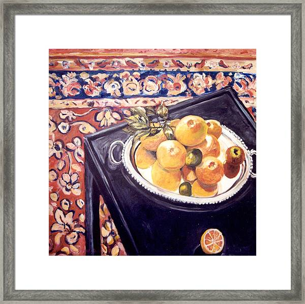 The Black Table Framed Print