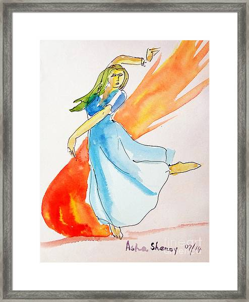 The Blazing Dancer Framed Print
