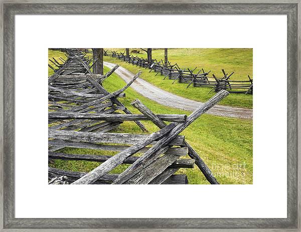 The Bloody Lane At Antietam Framed Print
