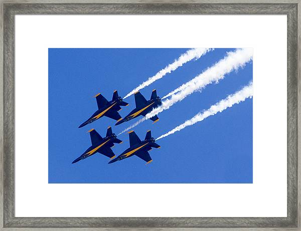 The Blue Angels In Action 2 Framed Print