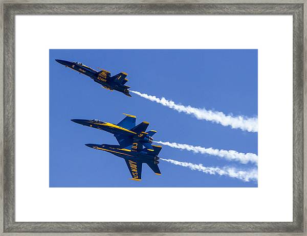 The Blue Angels In Action 5 Framed Print