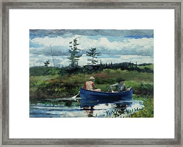 The Blue Boat Framed Print