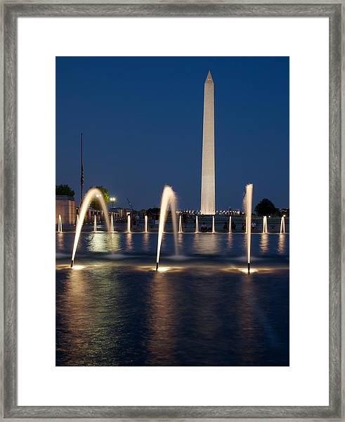 The Blue Hour In Dc Framed Print