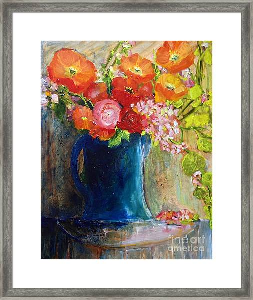The Blue Jug Framed Print