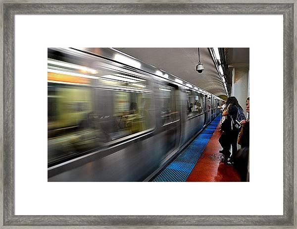 The Blue Line Framed Print