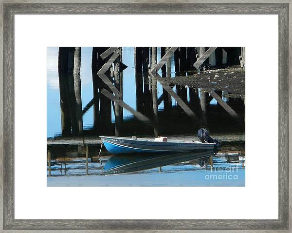 The Blue Skiff Framed Print