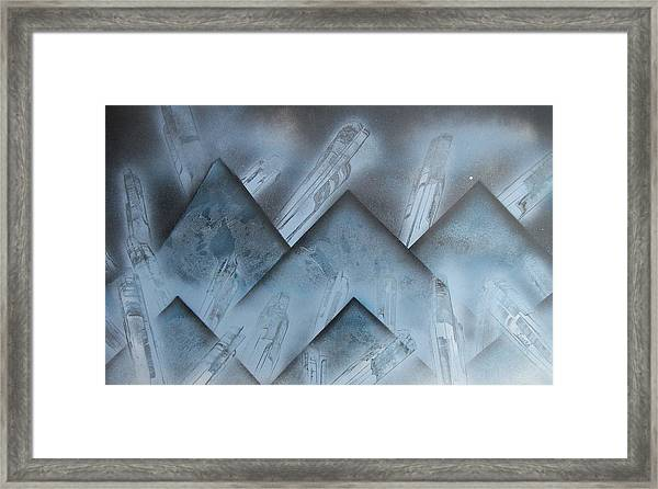 Blue Mountain Way Framed Print