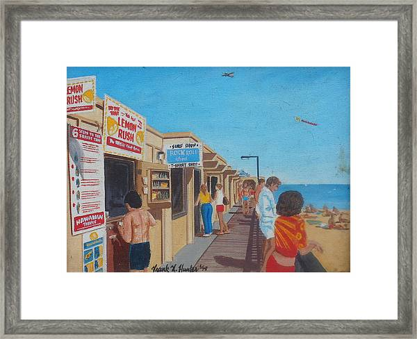 The Boardwalk At Daytona Beach Framed Print