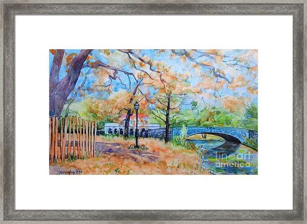 The Boat House And Lullwater Bridge Framed Print