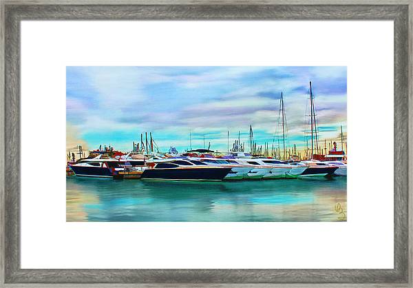 The Boats Of Malaga Spain Framed Print