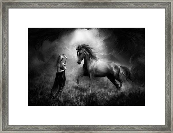 The Bond Between Us... Framed Print by Charlaine Gerber