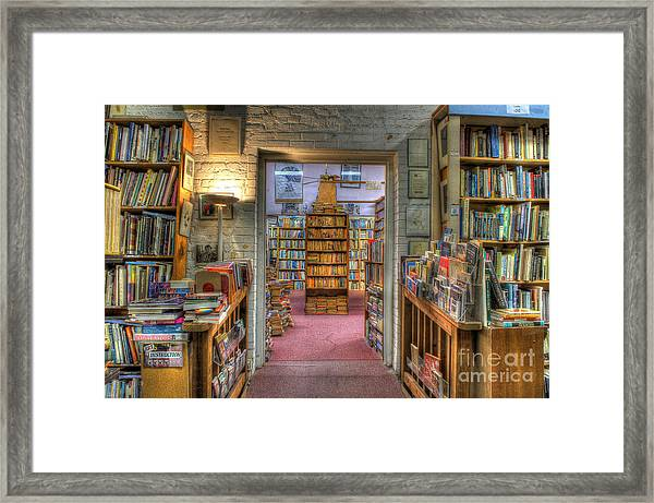 The Bookstore Framed Print