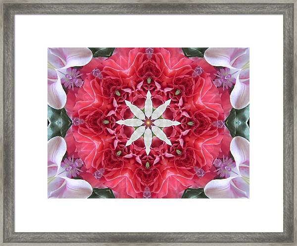 The Bouquet Mandala Framed Print