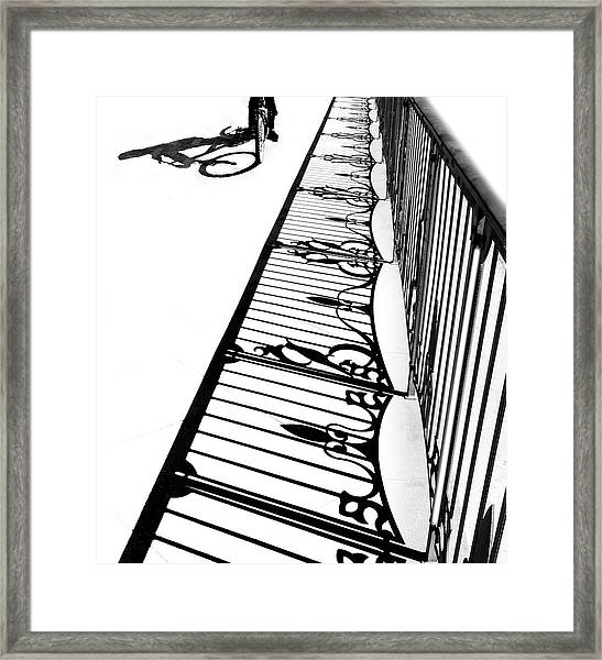 The Boy On Bicycle Framed Print