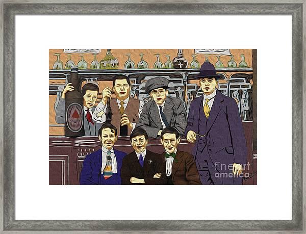 The Boys At Blackpool Framed Print