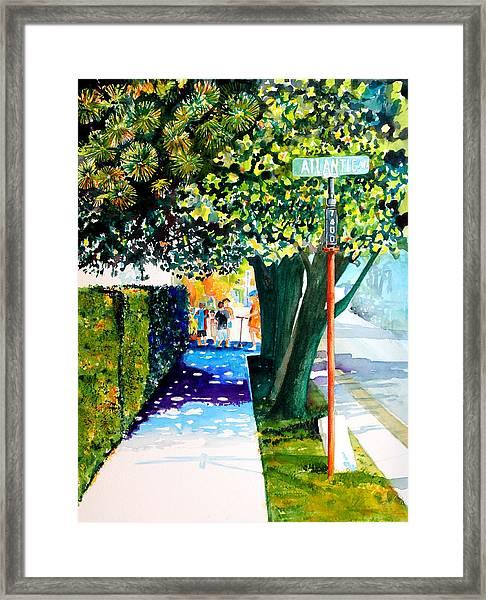 The Boys On Atlantic Avenue Framed Print