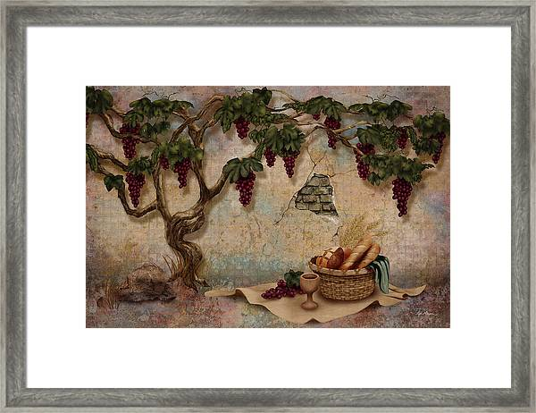 The Bread And The Vine Framed Print