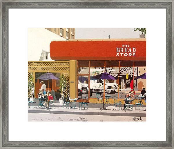 The Bread Store In Midtown Framed Print by Paul Guyer
