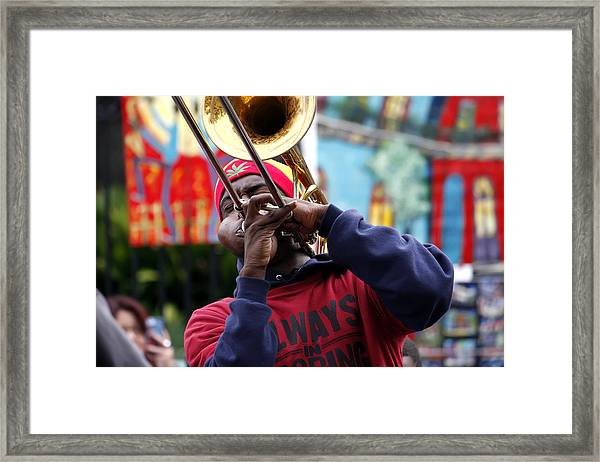 The Breath Of Jazz Framed Print